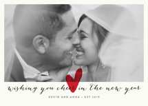 Married Little Heart Holiday Photo Cards By roxy