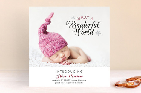 A Wonderful World Holiday Photo Cards