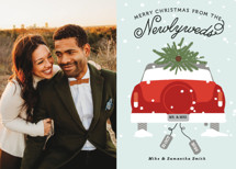 Newlywed Christmas Holiday Photo Cards By Bonjour Berry