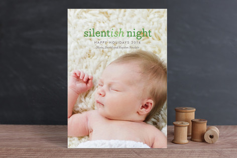 Silentish Night Holiday Photo Cards