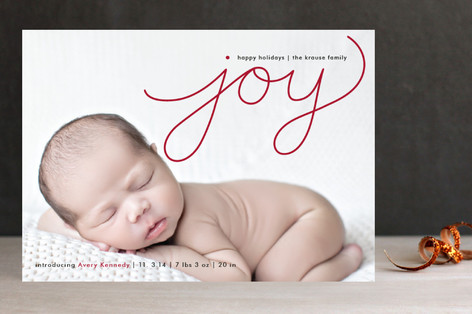 Flowing Joy Holiday Photo Cards