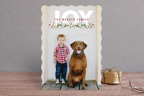 Noel Berries Holiday Photo Cards