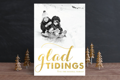 A Glad Greeting Holiday Photo Cards