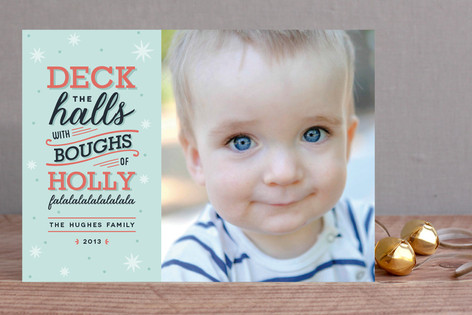 Deck the Halls Holiday Photo Cards