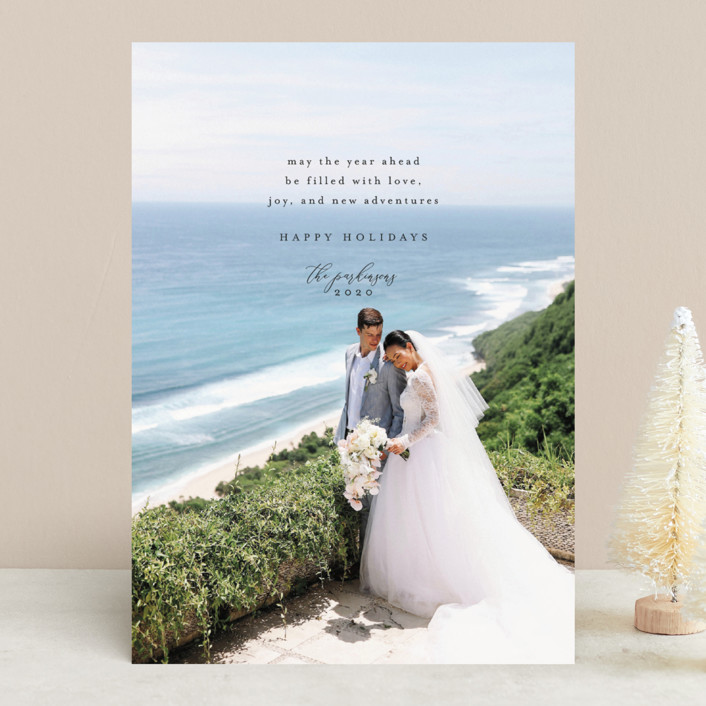 """""""Love, Joy, and New Adventures"""" - Holiday Photo Cards in Ink by Heather Cairl."""