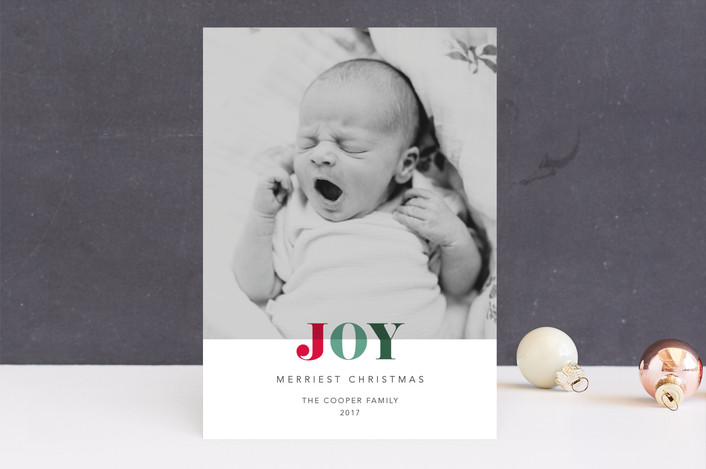 """Holiday Hues"" - Holiday Photo Cards in Holly by Jennifer Lew."