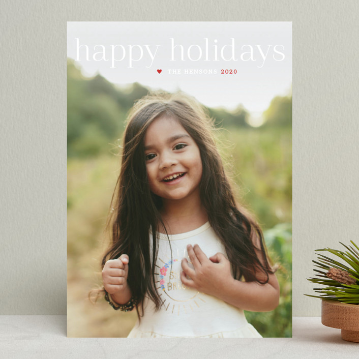 """Timeless Greeting"" - Holiday Photo Cards in Flurry by Alston Wise."