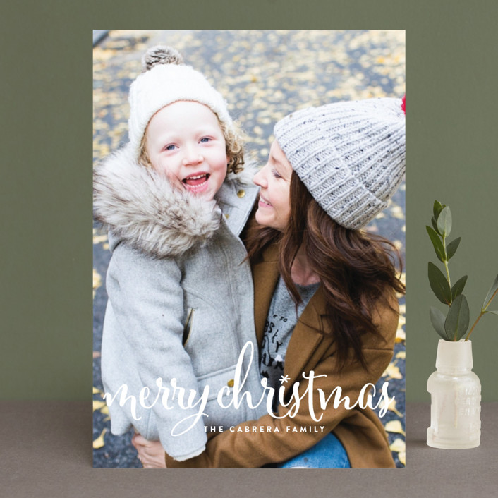 """Aglow"" - Holiday Photo Cards in Snow by annie clark."