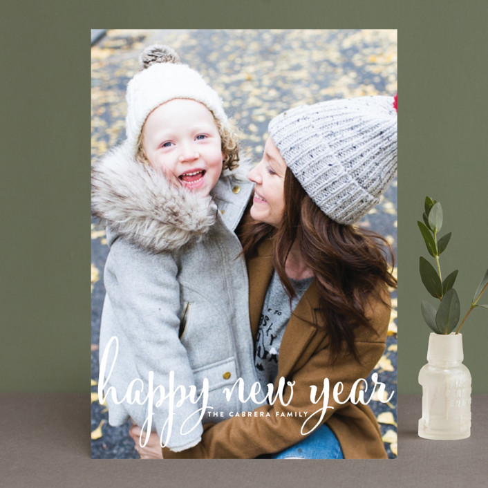 """""""Aglow"""" - Full-Bleed Photo, Modern Holiday Photo Cards in Snow by annie clark."""