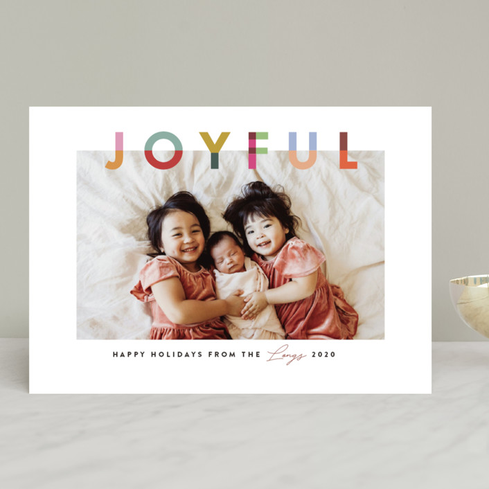 """Joyful Blocks"" - Holiday Photo Cards in Gumdrop by Julie Murray."