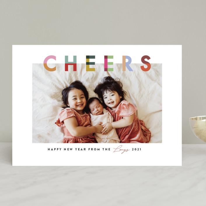 """Joyful Blocks"" - Holiday Photo Cards in Gumdrop by Julie Murray."
