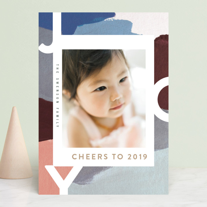 """""""Peace for You"""" - Modern Holiday Photo Cards in Snowy Day by Moglea."""
