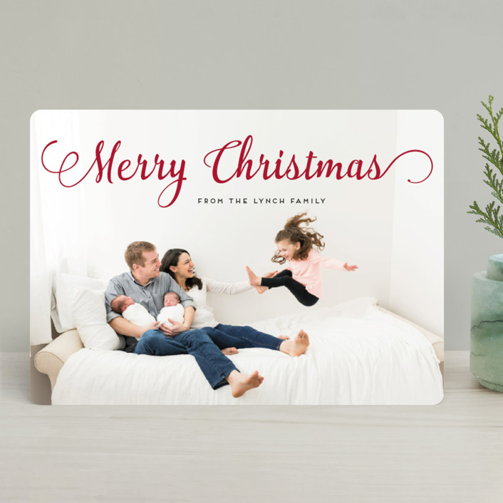Stylish and Merry Holiday Photo Cards by Alexandra Dzh   Minted