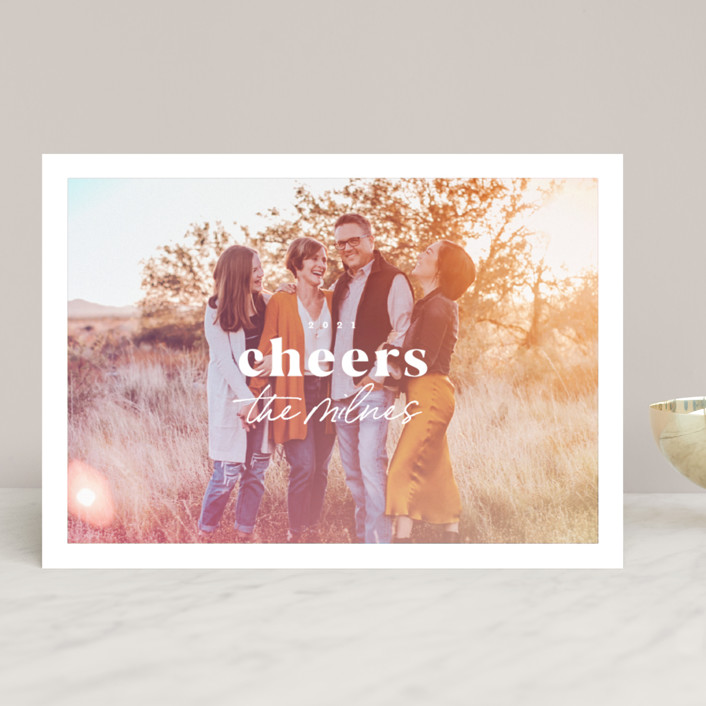 """Light Leak"" - Modern Holiday Photo Cards in Sorbet by Everett Paper Goods."