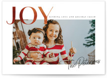 This is a brown holiday photo card by Karidy Walker called rusted joy with standard printing on smooth signature in standard.