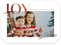 This is a brown holiday photo card by Karidy Walker called rusted joy with standard printing on recycled smooth signature in standard.