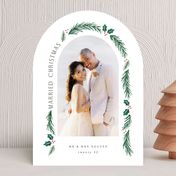 """""""a married christmas"""" - Holiday Photo Cards in Snow by Hooray Creative."""