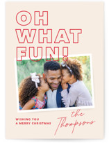 This is a red holiday photo card by Annie Clark called Fun Snap with standard printing on pearlescent in standard.