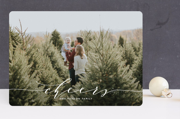 """a touch of elegance"" - Holiday Photo Cards in Marshmallow by Erin Deegan."