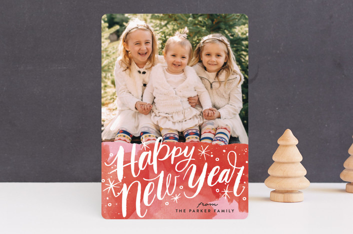 """""""Merry Christmas Magic"""" - Holiday Photo Cards in Holly Red by Alethea and Ruth."""
