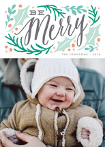 merry winter branches Holiday Photo Cards By Karidy Walker