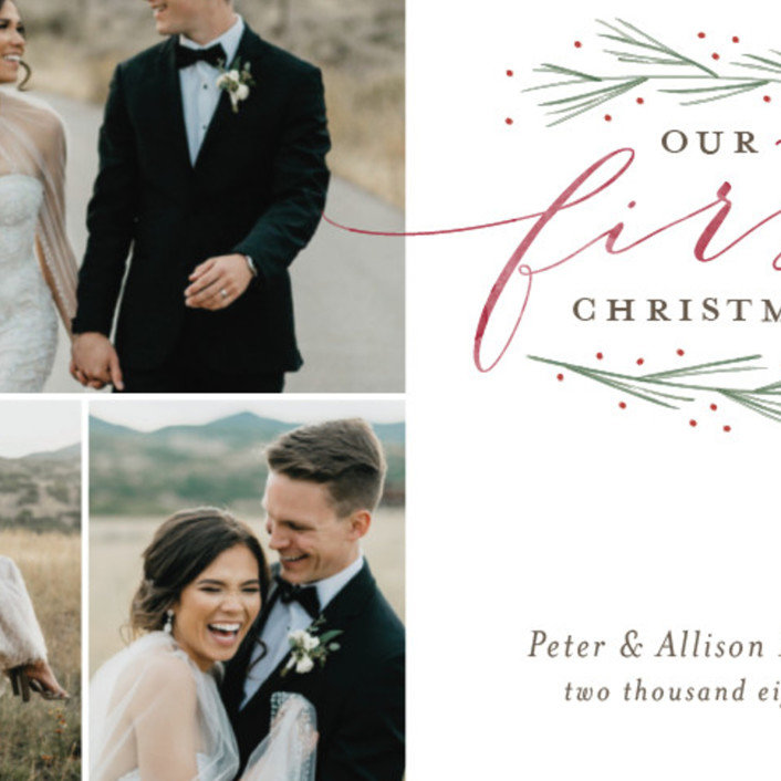 our first married christmas holiday photo cards by sarah brown minted