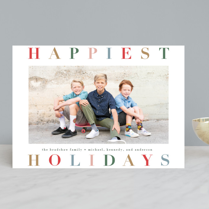 """""""Holiday Hue"""" - Holiday Photo Cards in Ruby by Lauren Chism."""