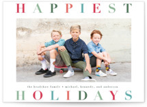 This is a green holiday photo card by Lauren Chism called Holiday Hue with standard printing on smooth signature in standard.