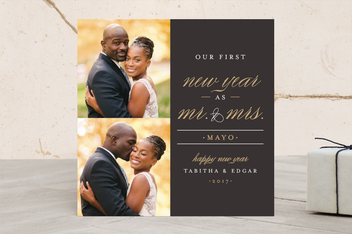 """""""MR. AND MRS."""" - Holiday Photo Cards in Tuxedo by Pistols."""
