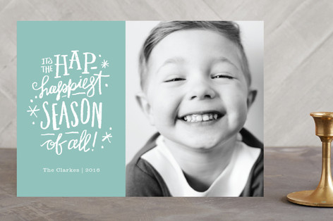 Hap-Happiest Time Holiday Photo Cards