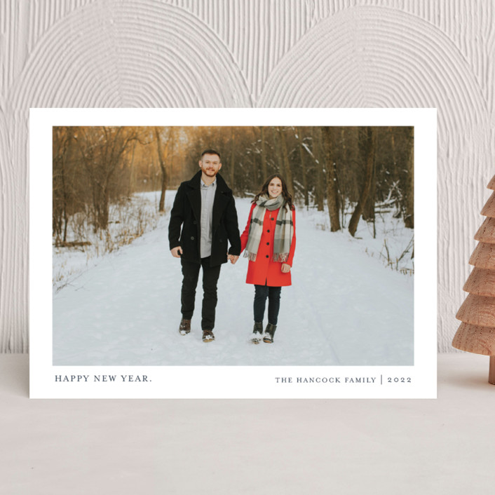 """""""Tiny Blessings"""" - Holiday Photo Cards in Blueberry Pie by That Girl Press."""
