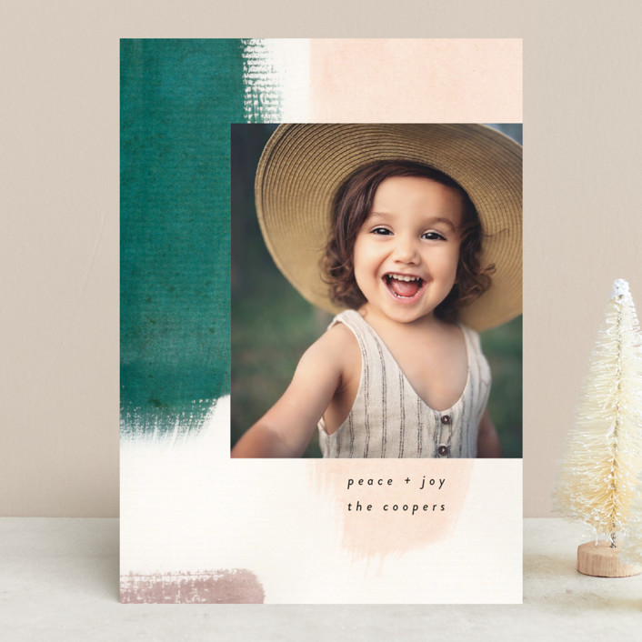 """""""Holiday Hues"""" - Modern Holiday Photo Cards in Forest by Lindsay Megahed."""