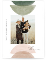 This is a green holiday photo card by Elly called Shapes with standard printing on smooth signature in standard.