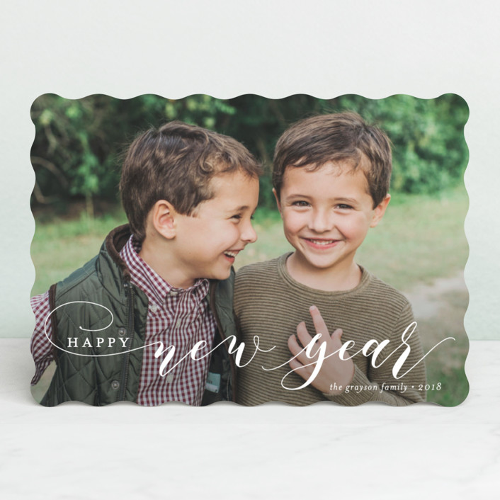 """Merry Swash"" - Holiday Photo Cards in Snowflake by Jessica Williams."