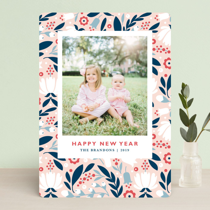 """""""Mod Flor"""" - Holiday Photo Cards in Wildflower by Kristen Smith."""