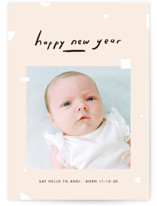This is a beige holiday photo card by Meg Gleason called Peaceful Piece with standard printing on smooth signature in standard.