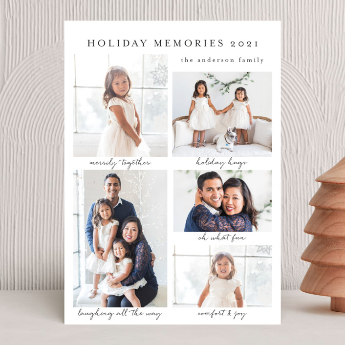 """""""Holiday Memories"""" - Holiday Photo Cards in Snow by Susan Moyal."""