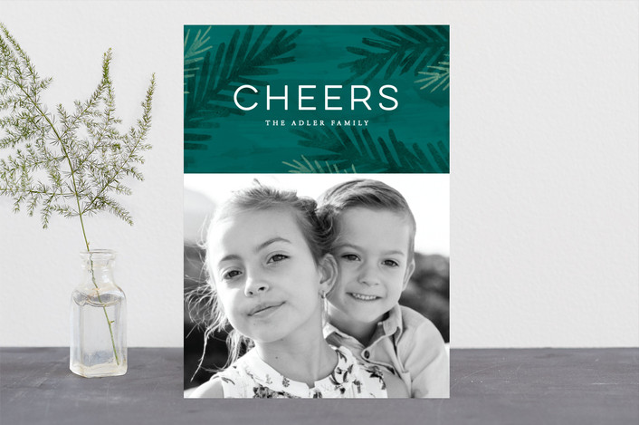 """""""Peace Of Pine"""" - Holiday Photo Cards in Evergreen by Hooray Creative."""