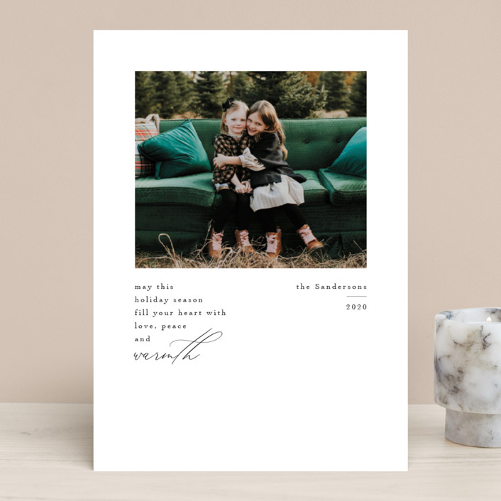 """""""Love Peace and Warmth"""" - Holiday Photo Cards in Ink by Kelly Stewart."""