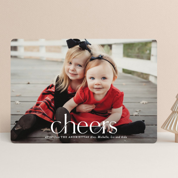 """""""Timeless Christmas"""" - Holiday Photo Cards in Snowfall by Melissa Egan of Pistols."""