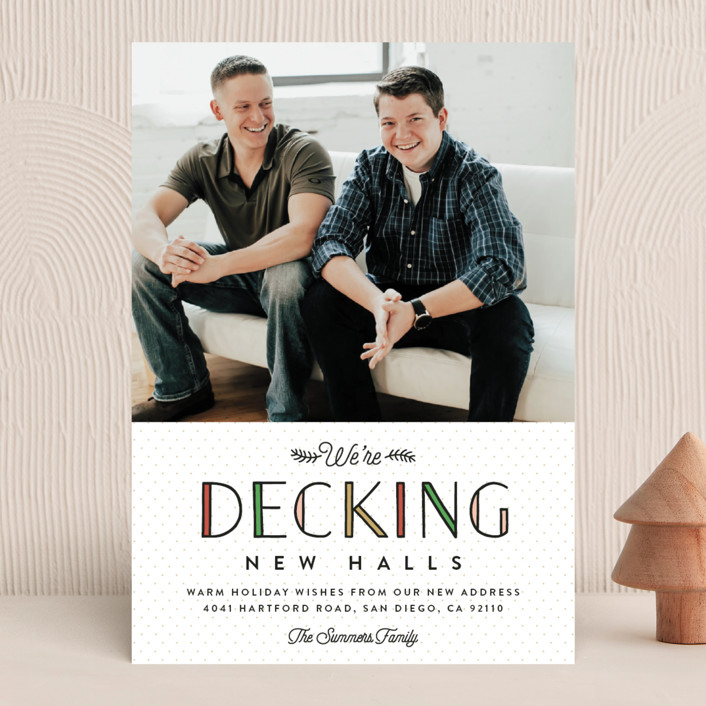 """Deck the New Halls"" - Funny Holiday Photo Cards in Ivory by Erica Krystek."
