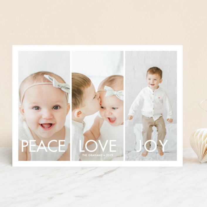 """More the Merrier"" - Holiday Photo Cards in Winter by chica design."