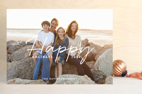 Scripted Elegance Holiday Photo Cards