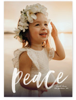This is a white holiday photo card by Erica Krystek called Pure Peace with standard printing on smooth signature in standard.