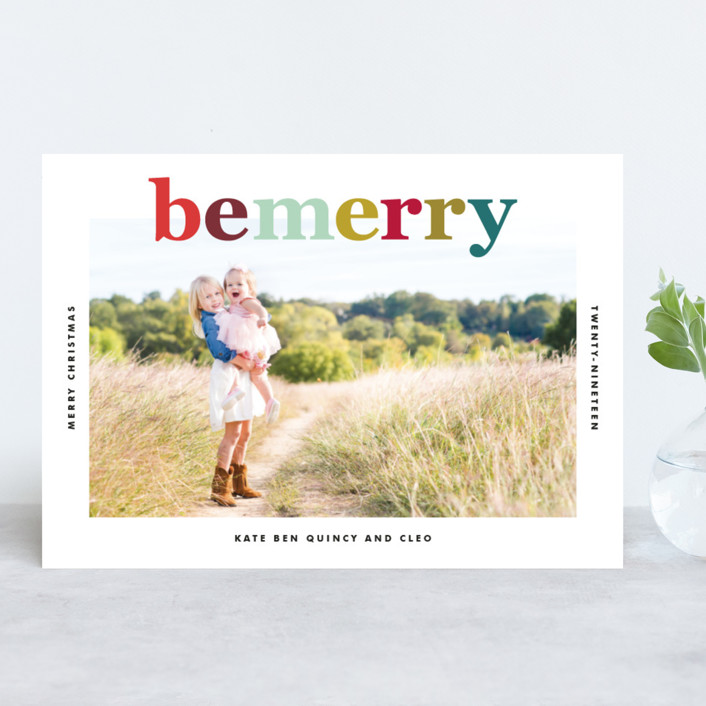 """""""Technicolor"""" - Holiday Photo Cards in Bright by annie clark."""
