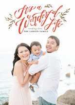 A Beautiful and Wonderful Life Holiday Photo Cards By Wildfield Paper Co.