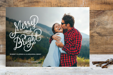 Merry and Bright Holiday Season Holiday Photo Cards