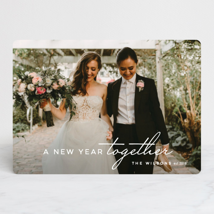 """So Merry Together"" - Holiday Photo Cards in Ice by Hooray Creative."