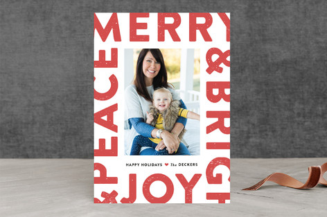 Boldly Stated Holiday Photo Cards