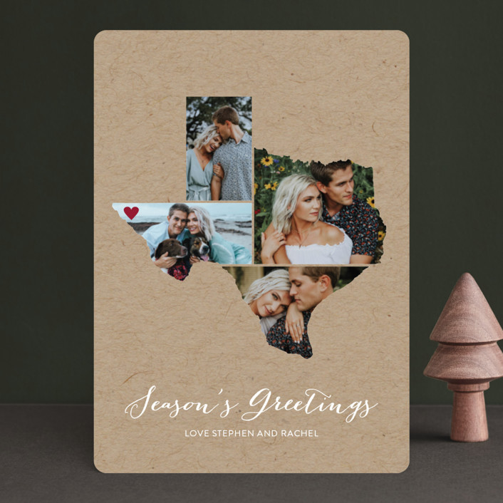 """""""Love Location"""" - Holiday Photo Cards in Kraft by Heather Buchma."""